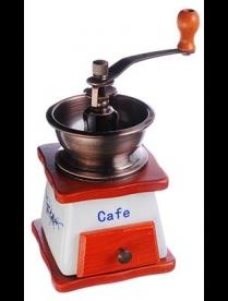 827-002 Кофемолка с керамическим основанием, металл, дерево, 10x10x17,5см