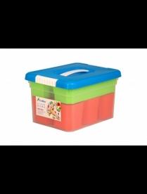 (98159) FB5031 Ящик для хранения KID'S BOX с ручкой 5 л+6 вставок S + лоток S 250х200х157мм