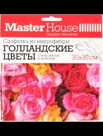 (97453) 60160 Салфетка из микрофибры Голландские цветы 30x30см