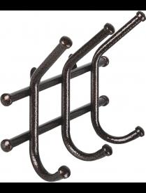 Вешалка настенная Норма-3 ВН-64, металл, медный/антик, 6 рожков 24,5 х8см х16,5см