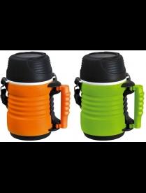 074034 Термос-контейнер пищевой с ремешком, корп PP, объем - 1 литр, стекл колба, серия - BELLO, тм