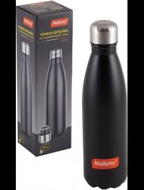 005239 Спортивный термос-бутылка (окрашенный корпус), NERO, 0,5л, тм Mallony