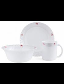 Набор для завтрака JEWEL Джайна 3 предмета (стеклокерамика) ПКЭ00129
