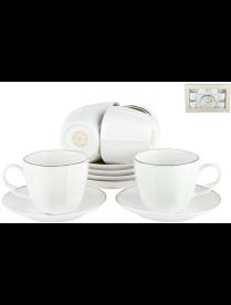 Набор кофейный 6/12 140мл2 Белый шелк QY16098