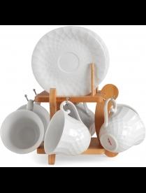 Набор чайный JEWEL Pumpkin 12 предметов на подставке (фарфор) ПС00034-12