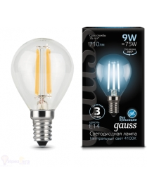 Gauss LED Filament 9W Е14 4100K 710lm (шарик)