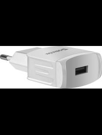 DEFENDER EPA-02 белый, 1 USB, 5V/1А, 83839