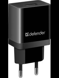 DEFENDER EPA-10 черный/белый, 1xUSB, 5V/2.1А, пакет 83572/83549