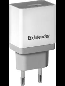 DEFENDER UPA-11 белый, 1хUSB, 5V/1А 83548