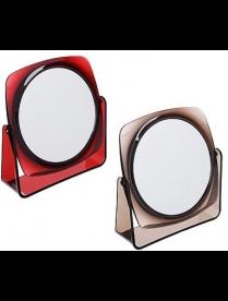 347-084 Зеркало настольное, 16,5х17,5см, пластик, стекло, 1207С