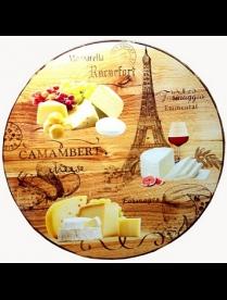 (099520) ВБТ01-03 Вращающееся блюдо d-300 мм Сыр Париж в п/у ВБТ01-03