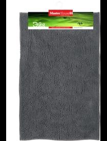 (098683) 60611 Коврик из микрофибры Эйя серый 50*80см, высота ворса 1 см, плотность: 1100 гр/м2