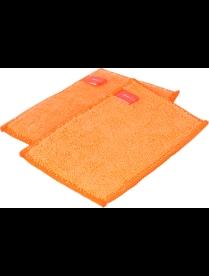 (098685) 75015 Набор губок из микрофибры, 2 штуки. Мой незаменимый цвет: серо-коралловый