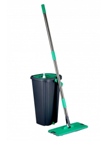 Комплект для уборки: швабра и ведро для отжима Rosenberg R-800052