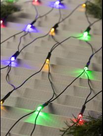 """Гирлянда """"Сеть"""", 1.6 х 1.6 м, LED-144-220V, 8 режимов, нить тёмная, свечение МУЛЬТИ."""