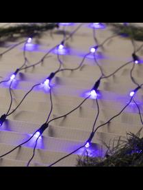 """Гирлянда """"Сеть"""", 1.6 х 1.6 м, LED-144-220V, 8 режимов, нить тёмная, свечение СИНЕЕ"""