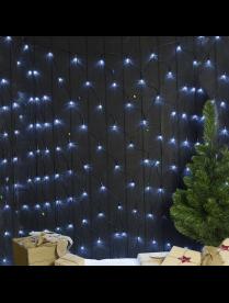 """Гирлянда """"Сеть"""" уличная УМС 2 х 1.5 м, 3W LED-192-220V, нить тёмная, свечение БЕЛОЕ"""