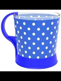(100615) Кружка для чая 250 мл. арт.1606 -ПП (Синий горох)
