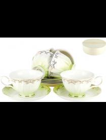 (098608) Q590-3(6/12) Набор чайный 6/12 250мл п/у Симфония салатовая
