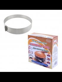 (096803) Кулинарная форма д/слоеных блюд круг. регулир. 24-30 см AN8-27