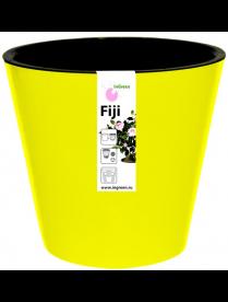 (101100) ING1553ЖТЛ Горшок для цветов Фиджи D 160 мм/1,6 л желтый