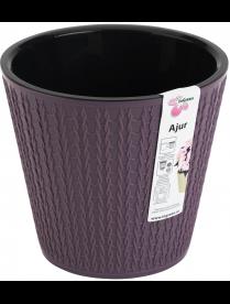 (101129) ING6191СЛ Горшок для цветов Ajur D160мм/1,6л морозная слива