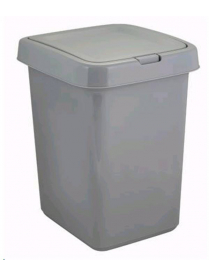 "(101077) SV4143СР Контейнер для мусора ""Квадра"" с крышкой Push to Open 25л"