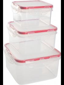 Комплект герметичных контейнеров для продуктов Amore квадр.0,4 л + 0,7 л GR1848ЧЕРИ