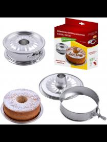 (089441) DH8-65 Кулинарная форма для выпечки кексов и тортов (разъемная) 3части, диам.17,5 DH8-65