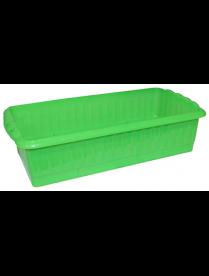 """(101309) Ящик для рассады """"Дом и Дача"""" 247*166*82 (Р) (зеленый цвет)"""