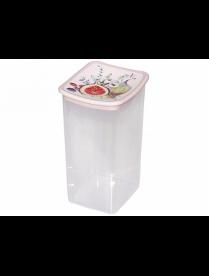 (096372) М1227 Емкость для сыпучих продуктов квадратная ДЕКО 1,9л инжир
