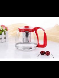 (100462) 3281 Заварочный чайник 1250 мл., Жаропрочное стекло, метал. фильтр 3281