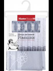 (098694) 60535 Штора для ванной Ромашки, материал полиэстер, 180*200см