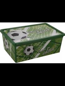 (098969) М2357 Ящик 10л ДЕКО 370х250х140мм футбол М2357