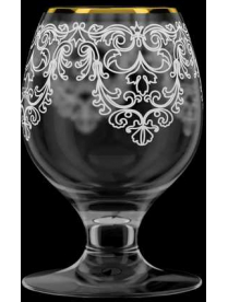 """(100666) Набор бокалов для бренди 6шт. арт.1714-ГЗ """"Византия"""" Гравировка,золото"""