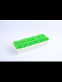 """(101308) Рассадник """"Дом и Дача"""" на 12 стаканчиков (зеленый цвет)"""