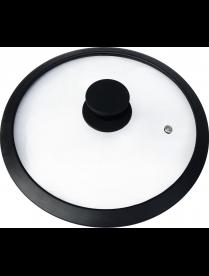 003662 Крышка стеклянная C-type с силиконовым ободком, серия CAPPELLO-C, 26 см диа, сил ручка, тм M