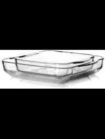 (101981) 159028 Набор посуды для СВЧ 2 пр (2 квадр. лотка б/крышек 280*280мм и 220*220мм) 3л + 1,6 л