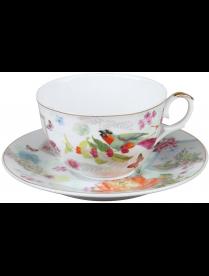 Rosenberg R-255009 Чайная пара. Фарфор.Чашка 12х9.5х6.5см,250мл.Блюдце 15.5х15.5см