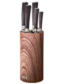 LR05-103 LARA <Beige> Подставка для ножей универсальная круглая