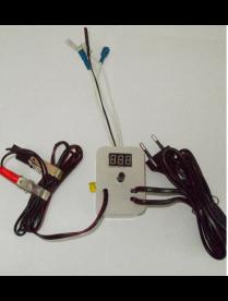Терморегулятор аналоговый 220В/12В автомат с цифр. измерит. темпет. (арт.74)