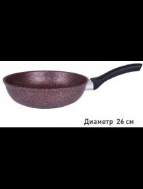 """(102249) сга260а Сковорода 260мм с ручкой, АП линия """"Granit ultra"""" (red)"""