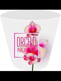 (099719) ING6196РЗ Горшок для цветов Фиджи Орхид Деко D 160 мм/1,6 л розовая орхидея