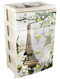 """Комод 4 секции """"Весна в Париже"""" широкий (1) М2266"""