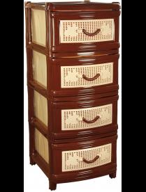 (39655) М1356 Комод 4-х секционный 40*46*91 см (коричневый)