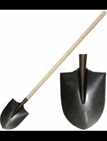 (090276) Лопата штыковая (Рельсовая сталь) с черенком ЛРС сч