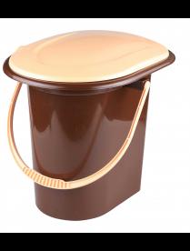 (103161) М1319 Ведро-туалет 17,0л со съемным сиденьем коричневый