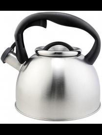 003977 Чайник из нерж стали со свистком серия Lacrima, 2,5 литра, матовый, Mallony
