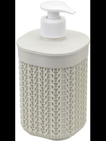 Диспенсер для мыла ВЯЗАНИЕ белый ротанг М2239