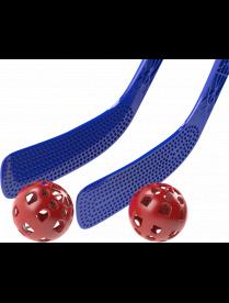 """(101725) АП 209 Детский хоккейный набор """"Непоседа"""" (2 клюшки 51см, 2 шарика d-58мм) (50)"""